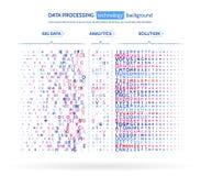 Visualización grande de los datos Concepto del analytics de la información Información abstracta de la corriente Algoritmos de fi Foto de archivo libre de regalías
