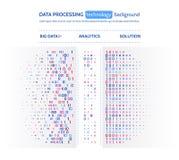 Visualización grande de los datos Concepto del analytics de la información Información abstracta de la corriente Algoritmos de fi Fotos de archivo