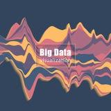Visualización grande de los datos Gráfico de la corriente Ilustración del vector Fotos de archivo