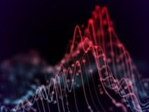 Visualización grande del extracto de los datos: analytics de las cartas de negocio ilustración del vector
