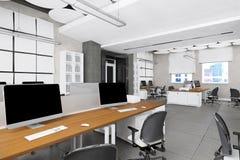Visualización vacía del lugar de trabajo de oficina Imagen de archivo libre de regalías