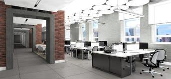 Visualización vacía del lugar de trabajo de oficina Imagen de archivo