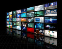 Visualización video Fotografía de archivo libre de regalías