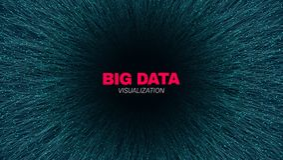 Visualizaci?n futurista de los datos grandes abstractos libre illustration