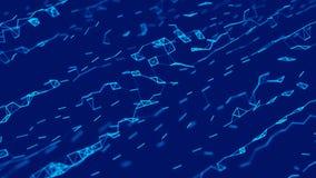Visualizaci?n grande de los datos Fondo de la ciencia Complejo grande de los datos con los compuestos Alinea el plexo stock de ilustración