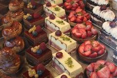 Visualización colorida de los pasteles Foto de archivo
