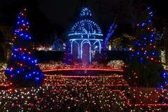 Visualización de la luz de la Navidad Foto de archivo