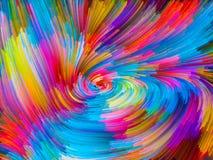 Visualization av färgvirvel Royaltyfria Bilder