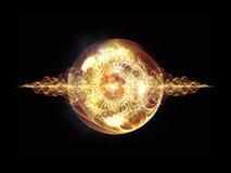 Visualization av vågpartikeln royaltyfria foton
