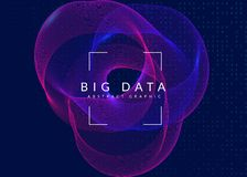 Visualization background. Technology for big data, artificial in stock image