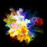 Visualization of Color Splash Explosion vector illustration