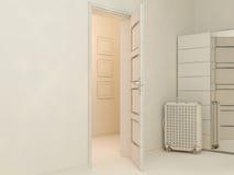 visualization 3D av uppehället för inredesign i en studiolägenhet Arkivbild