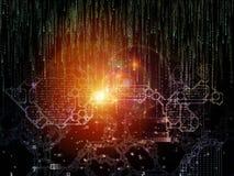 Visualization of Digital Key Code Royalty Free Stock Photo