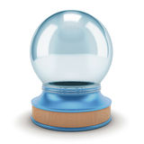 Visualization of an empty snow globe. Stock Photos
