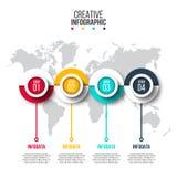 Visualization för affärsdata Arkivbilder