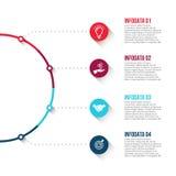Visualization för affärsdata Royaltyfri Foto