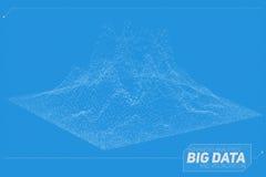 Visualization för data 3D för vektor abstrakt stor Estetisk design för futuristisk infographics Visuell informationskomplexitet Royaltyfri Foto