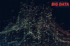 Visualization för data 3D för vektor abstrakt stor Estetisk design för futuristisk infographics Visuell informationskomplexitet Arkivfoton