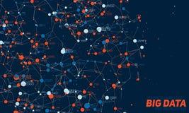 Visualization för data 3D för Violet abstrakt stor Invecklade finansiella data dragar analys Affärsanalyticsframställning Royaltyfri Bild
