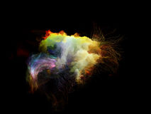 Visualization of Fractal Jellyfish stock photography
