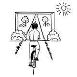 Visualization goal humorous   illustration Royalty Free Stock Photo