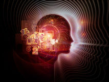Visualization of Human Technology Royalty Free Stock Images