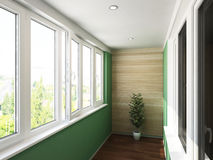 Visualization of the interior. 3D Rendering Royalty Free Stock Photo