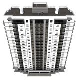 Visualization of modern multi-storey residential building Stock Photography
