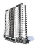 Visualization of modern multi-storey residential building Stock Images