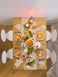 Visualization shows table setting for the holiday Halloween Royalty Free Stock Photography