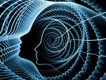 Visualization of Soul and Mind Stock Images