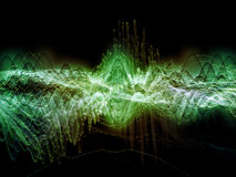 Visualization of Sound Wave Royalty Free Stock Images