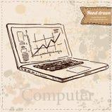 Visualizzatore del computer di vettore isolato su bianco Illustrazione di Stock