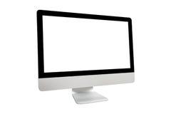 Visualizzatore del computer isolato su priorità bassa bianca Fotografia Stock Libera da Diritti
