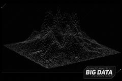 Visualizzazione astratta di dati 3D di vettore grande Progettazione estetica di infographics futuristico Complessità visiva di in Immagine Stock