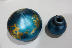 Visualizzazione ceramica dell'opera d'arte alla mostra di arte Fotografia Stock Libera da Diritti