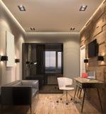 visualizzazione 3D del gabinetto Fotografia Stock