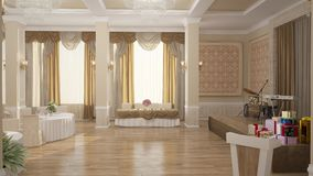 visualizzazione 3D di un interior design del forno fotografie stock libere da diritti