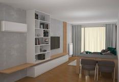 visualizzazione 3D di un interior design del forno fotografie stock