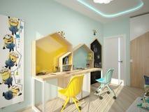 visualizzazione 3D di un interior design del forno immagine stock
