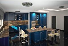 visualizzazione 3D di un interior design del forno fotografia stock libera da diritti