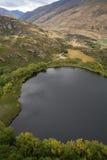 Visualizzazione dalla piattaforma di visualizzazione di Diamond Lake, Nuova Zelanda Fotografia Stock Libera da Diritti