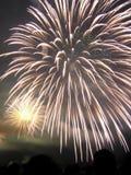 Visualizzazione dei fuochi d'artificio Fotografia Stock Libera da Diritti