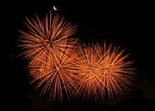 Visualizzazione dei fuochi d'artificio Immagini Stock