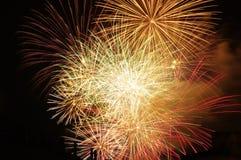 Visualizzazione dei fuochi d'artificio delle scintille Immagine Stock Libera da Diritti