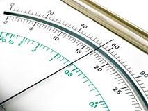Visualizzazione del dispositivo di misurazione Immagini Stock