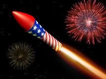 Visualizzazione del fuoco d'artificio Immagine Stock Libera da Diritti