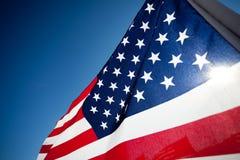 Visualizzazione della bandierina di Amereican che commemora festa Immagine Stock Libera da Diritti