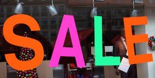 Visualizzazione della finestra di vendita Fotografia Stock