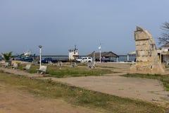 Visualizzazione della porta della città di Cacheu in Guinea-Bissau, Africa occidentale Immagine Stock Libera da Diritti